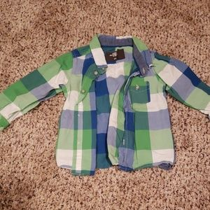 Other - Green and blue long sleeve shirt